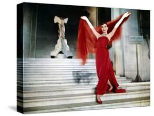 Audrey Hepburn on the Steps of the Louvre, in the Film 'Funny Face', 1957