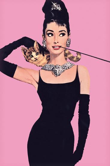 Audrey Hepburn – Pink-Unknown-Art Print