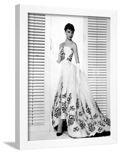 "Audrey Hepburn. ""Sabrina Fair"" 1954, ""Sabrina"" Directed by Billy Wilder. Custome by Edith Head--Framed Photographic Print"