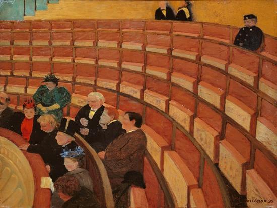 Auf der 3.Galerie im Théatre au Châtelet 1895By Felix Vallotton