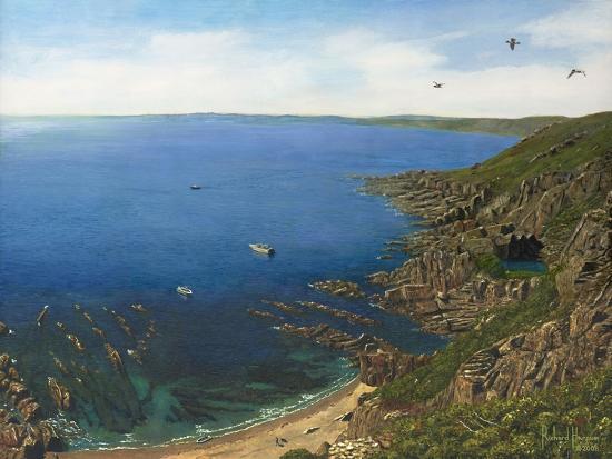 August Afternoon - Whitsand Bay from Rame Head Cornwall-Richard Harpum-Art Print