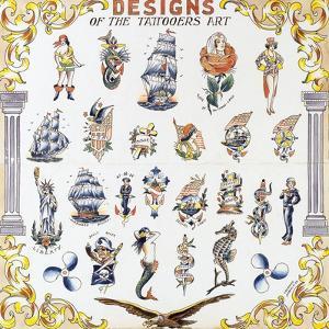 Flash Designs of the Tattooers Art by August Bernard Coleman