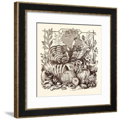 August, Calendar, Year, Month, Monthly--Framed Giclee Print