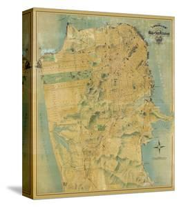 The Chevalier Map of San Francisco, c.1911 by August Chevalier