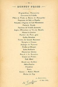 Buffet Froid by August Escoffier