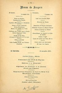 Menus De Soupers by August Escoffier