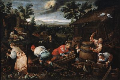 August' (From the Series 'The Seasons), Late 16th or Early 17th Century-Leandro Bassano-Giclee Print