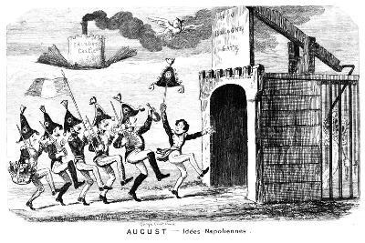 August - Idees Napoliennes, 19th Century-George Cruikshank-Giclee Print