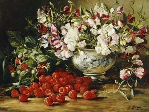 Raspberries and Sweet Pea by August Laux