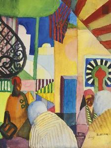 In the Bazaar, 1914 by August Macke