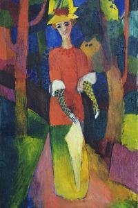 Lady in a Park by August Macke