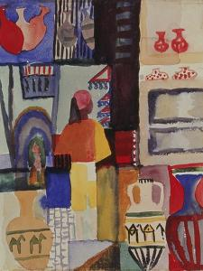 Merchant with Jugs, 1914 by August Macke