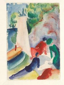 Picnic on the Beach (Picnic after Sailin), 1913 by August Macke