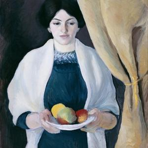 Portrait with Apples by August Macke
