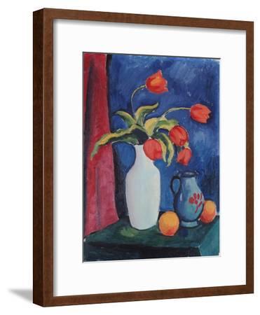 Red Tulips in White Vase, 1912