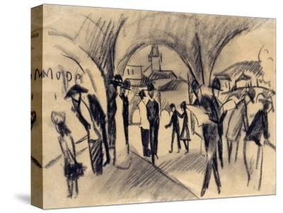 Scene under the Arcades in Thun, 1913
