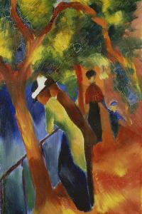 Sunny Path, 1913 by August Macke