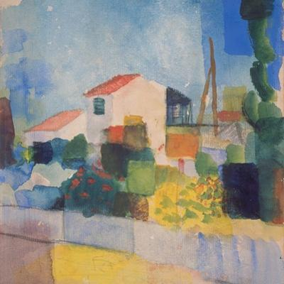 The Light House (1, Version), 1914 by August Macke