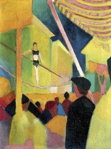 Tightrope Walker, C. 1913 by August Macke