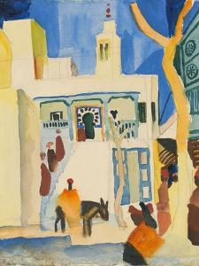 View of a Mosque by August Macke