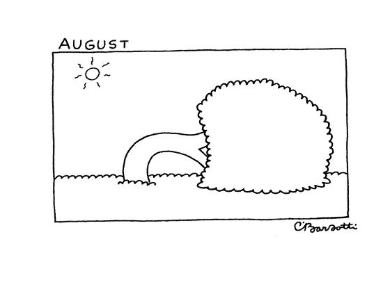August - New Yorker Cartoon-Charles Barsotti-Premium Giclee Print