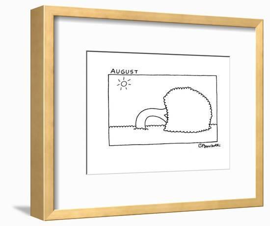 August - New Yorker Cartoon-Charles Barsotti-Framed Premium Giclee Print
