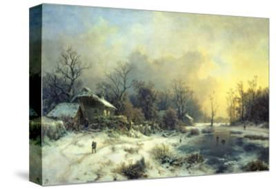 Winter Landscape with Frozen Pond, about 1850