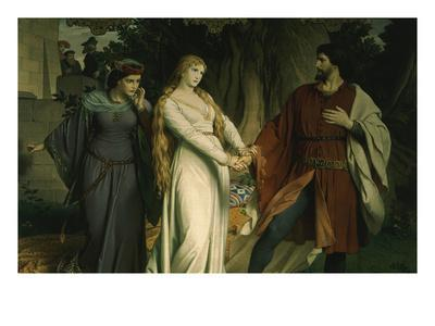 Tristan with Iseult, or Isolde, Scene from Tristan Und Isolde, 1865