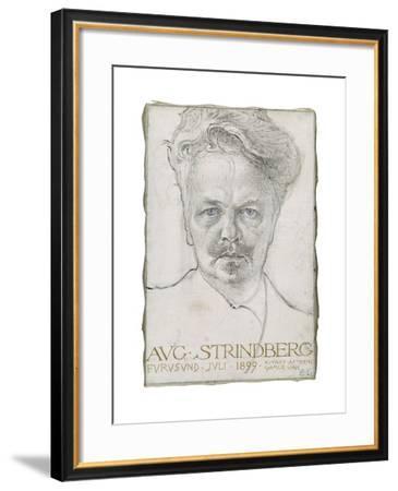 August Strindberg, 1899-Carl Larsson-Framed Giclee Print