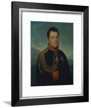 August Wilhelm Graf Neidhardt Von Gneisenau in the Dark Blue Uniform of a Prussian General, 1815-16-Marie von Clausewitz-Framed Giclee Print