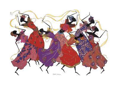 Lead Dancer in Purple Gown