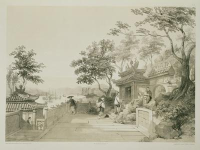 A Chapel of the Great Temple of Macao, Plate 10 from 'Sketches of China', Engraved by Eugene Ciceri