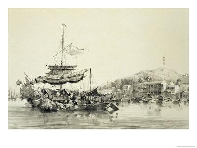 """Hong Shang, Plate 17 from """"Sketches of China"""", 1842"""