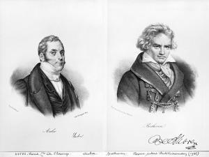 Esprit Auber and Ludwig Van Beethoven by Auguste Bry