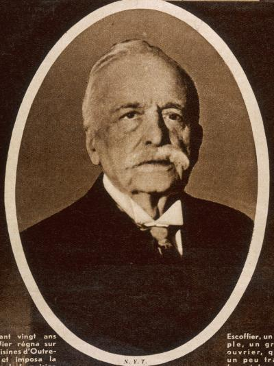 Auguste Escoffier French Chef--Photographic Print