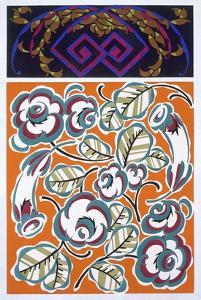 Interior Design Pattern, Plate 4 from 'Formes Et Couleurs', Published C.1930 (Colour Litho) by Auguste H. Thomas