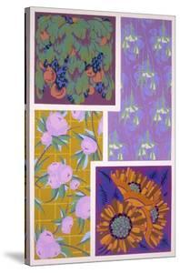 Plate 11, from 'Forms and Colours', C.1930 (Colour Litho) by Auguste H. Thomas