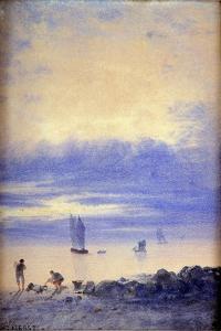 Seascape, Saint-Malo Beach by Auguste Herst