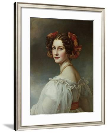 Auguste Hilber, Née Strobl, 1827. from the Beauty-Gallery of King Ludwig I-Joseph Karl Stieler-Framed Giclee Print