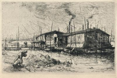 Old Washing-Boats at Grenelle, 1915