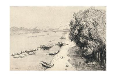 'The Seine at the Pont National', 1915
