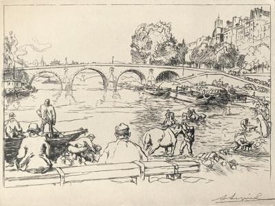 'The Watering Place at the Pont Marie', 1915