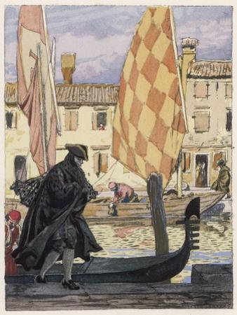 Giovanni Giacomo Casanova Chevalier de Saingalt Italian Adventurer in Carnival Mask Venice by Auguste Leroux