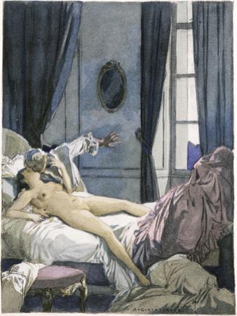Giovanni Giacomo Casanova Chevalier de Saingalt, with Henrietta at Reggio by Auguste Leroux