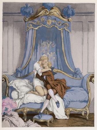 Giovanni Giacomo Casanova Chevalier de Saingalt, with the Young Comtesse at Venice by Auguste Leroux