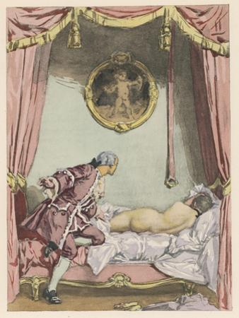 Giovanni Giacomo Casanova Italian Adventurer, He Finds Zeroli Asleep by Auguste Leroux