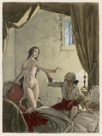 Giovanni Giacomo Casanova Italian Adventurer with His Belle Religieuse by Auguste Leroux