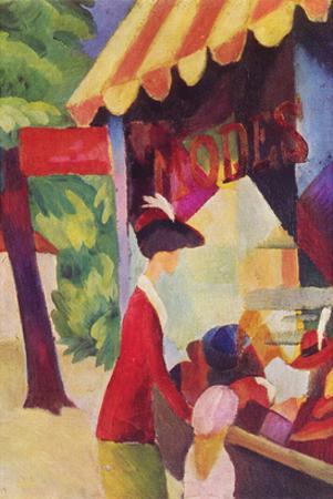 Before Hutladen (Woman with a Red Jacket and Child)