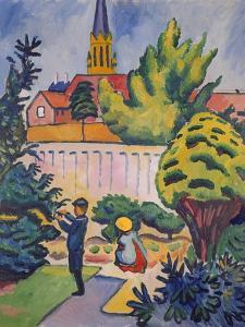 Children in the Garden, 1912 by Auguste Macke