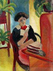 Elizabeth Reading by Auguste Macke